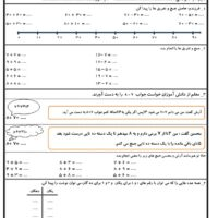 آزمون مداد کاغذ ریاضی دوم ابتدایی فصل دوم