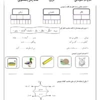 آزمون  پایانی فارسی اول ابتدایی