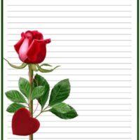 برگه ی انشاء نویسی نوبت دوم طرح گل قرمز