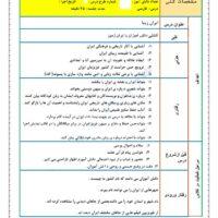 طرح درس فارسی  ایران زیبا دوم ابتدایی
