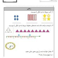 فعالیت یادگیری ریاضی چهارم ابتدایی آبان ماه .۹۷
