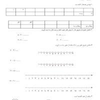 مرور مطالب ریاضی  دوم ابتدایی